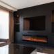 Inbouw tv-wand op maat zwart