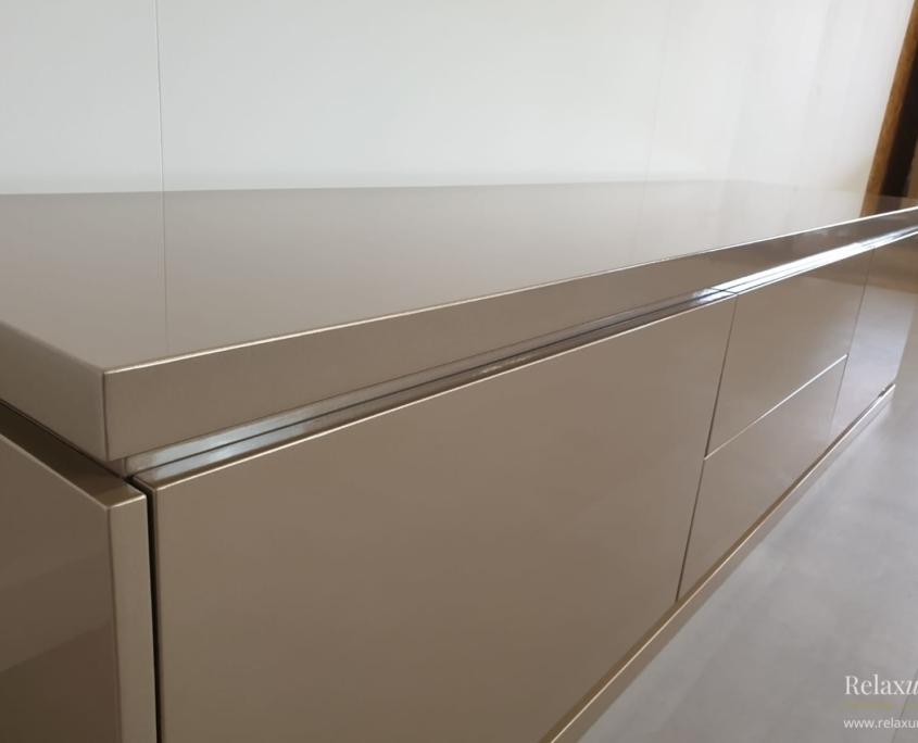 TV-meubel hoogglans taupe