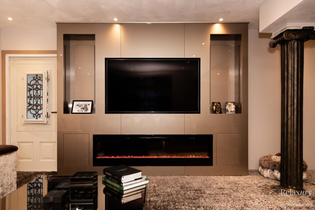 Tv Meubel Wand.Tv Meubel Hoogglans Op Maat In Metropolitan Stijl Bestel Nu