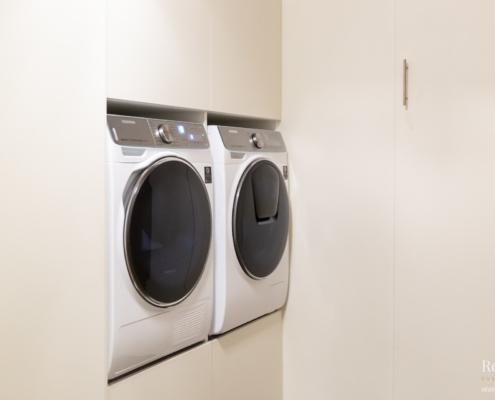 Inbouwkast wit droger wasmachine
